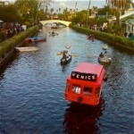 Venice Boat Parade- Trolley Car photo